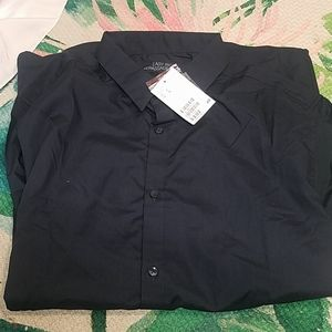 Dark navy H &M collared button shirt